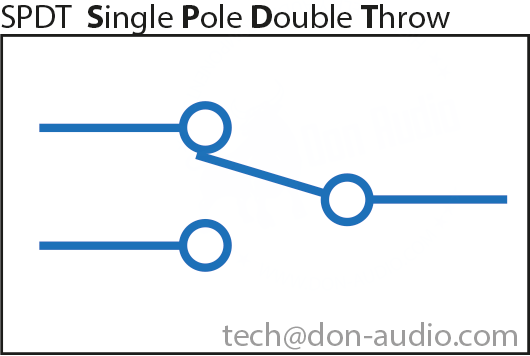 SPDT Single Pole Double Throw