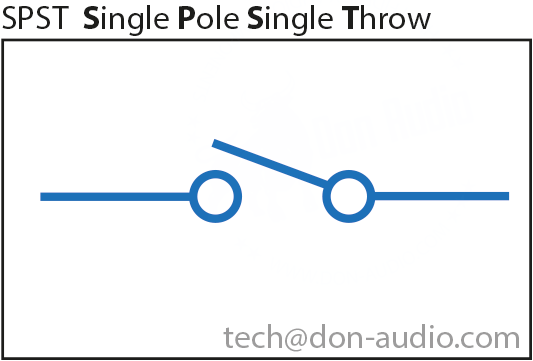 SPST Single Pole Single Throw