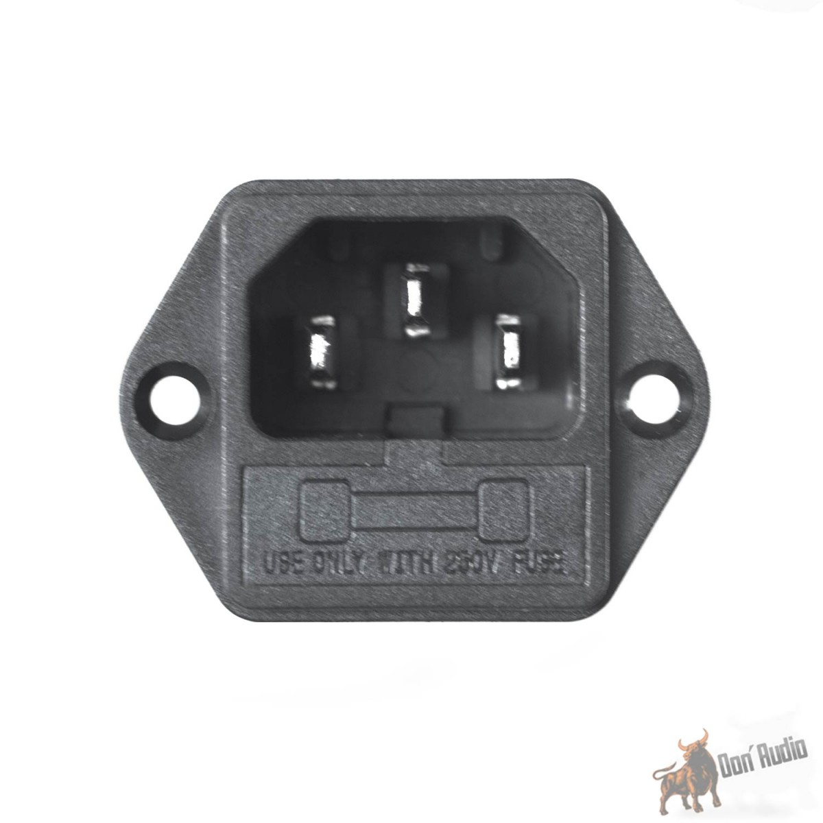 Parts Express IEC Power Jack Chassis Mount with 10A Fuse Holder