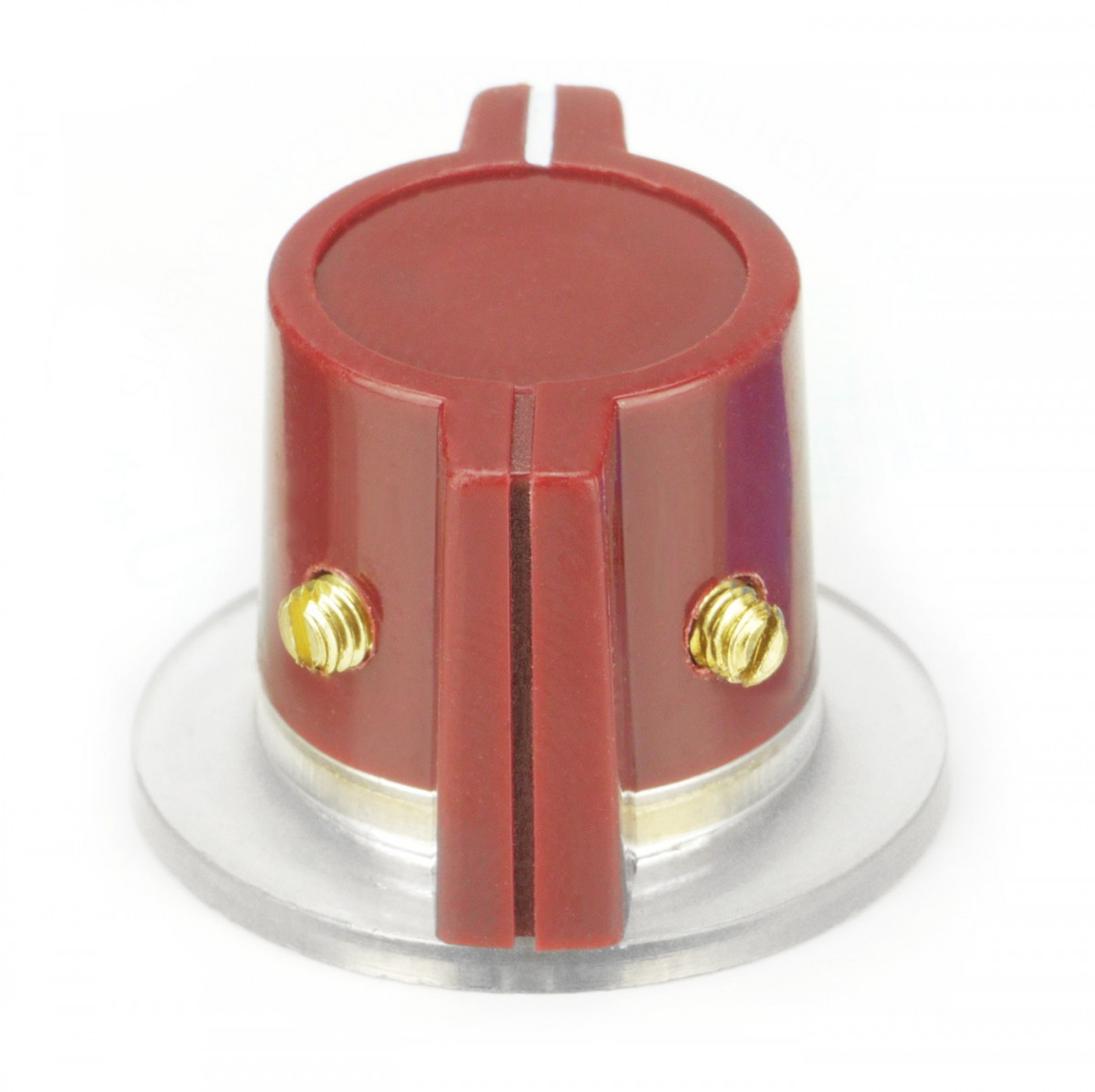 Classic Marconi knob, skirted, red