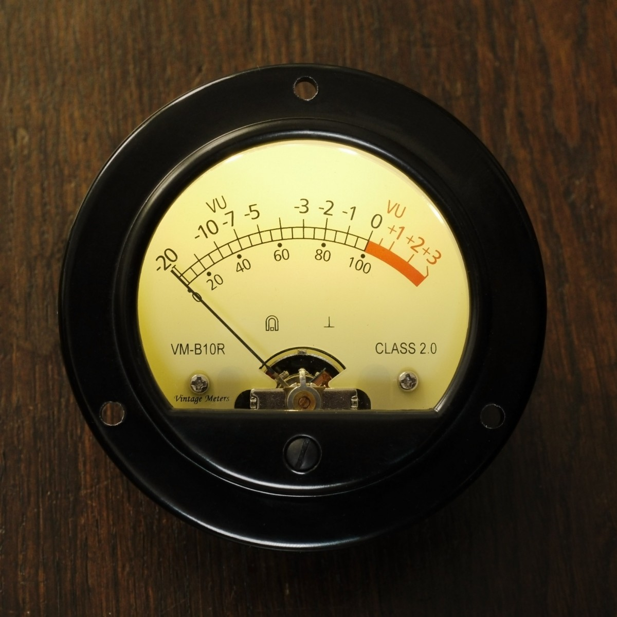 Vintage meters vm b10r led 1ma retro vu meter led for Gartenpool 10 meter