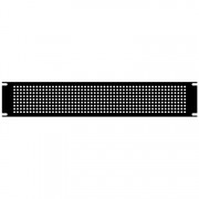 2U Steel Blank Panel Black - Perforated