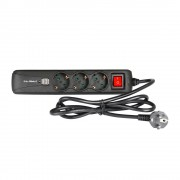 3-Outlet Power Strip With Dual USB Charging Ports And...