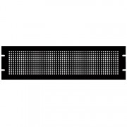 3U Steel Blank Panel Black - Perforated