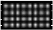 4U Steel Blank Panel Black - Perforated