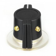 Black Marconi style Knob, skirted 2 x Set screw, 1/4...