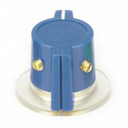 Blue Marconi style Knob, skirted 2 x Set screw, 1/4 Shaft...