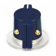 Classic Marconi knob, skirted, dark-blue