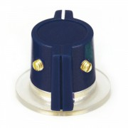 Classic Marconi knob, skirted, dark-blue 2 x Set screw,...