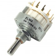 Elma Rotary switch Type 04 PCB Pins 1 Wafer 2 x 6...