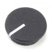 British Collet Knob Caps With Line Black 15mm