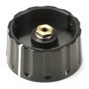 Big Classic Collet Knob 45mm black with white line