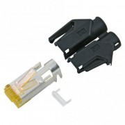 HIROSE RJ45 CAT.6a, 8-pole, plastic-, crimp-male...