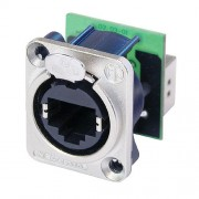 Neutrik NE8FDP RJ45 feedthrough receptacle, D-shape metal...