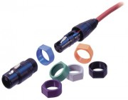 Neutrik XCR color coding rings with labeling block