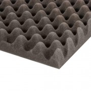 Acoustics Eggbox Absorber Foam grey 1000x2000x30 mm