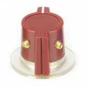 Red Marconi Knob, skirted 2 x Set screw, 1/4 Shaft hole