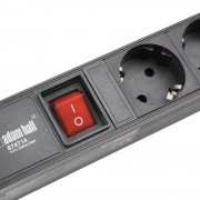 Power Strip 1U 14 Sockets, long 3m cable