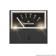 VU-Meter S-500 dB Compression White