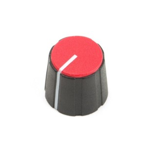 Black British 15mm Collet Knob with line, red cap