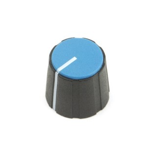 Black British 15mm Collet Knob with line, blue cap