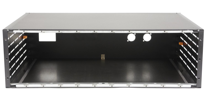 """3U 19"""" Aluminum enclosure black"""