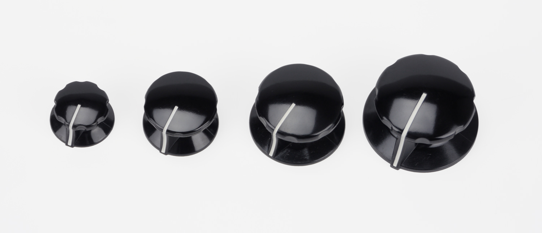 turning knobs bakelite black